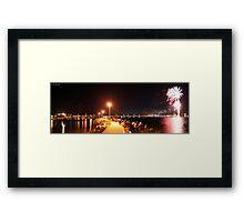 Forster NYE Fireworks Panorama Framed Print