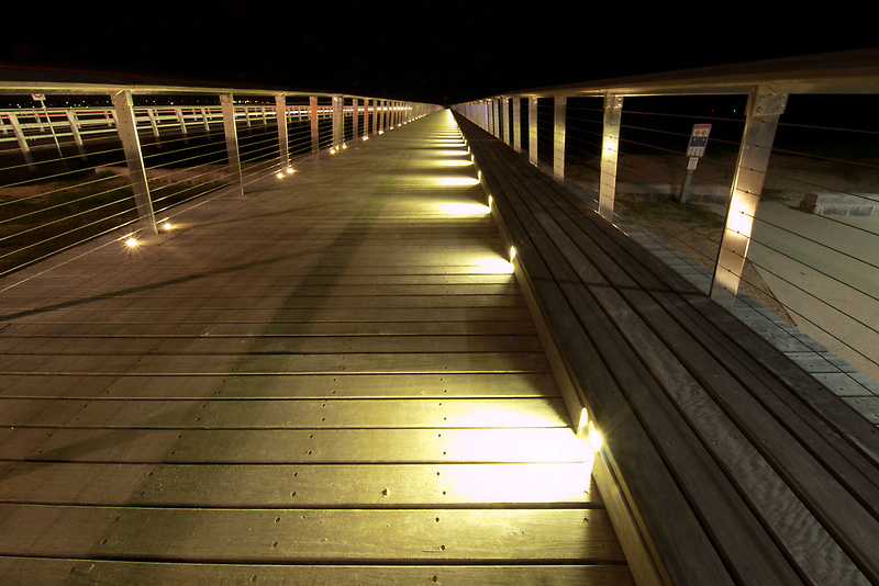 William Buckley Bridge Lights by John Sharp