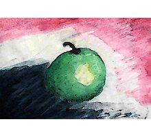The green apple portrait, watercolor Photographic Print