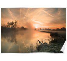 Sunrise at Mapledurham Poster