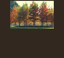 Line of Autumn Colored Trees at George George Park Unisex T-Shirt