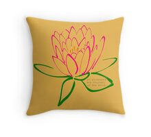 7 DAY'S OF SUMMER-YOGA ZEN RANGE-MINDFULNESS GOLD Throw Pillow