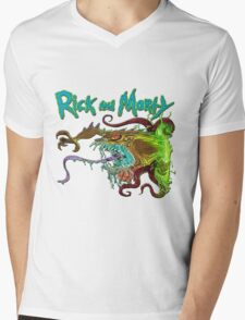 rick and morty monster  Mens V-Neck T-Shirt