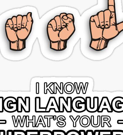 ASL Superpower Sticker