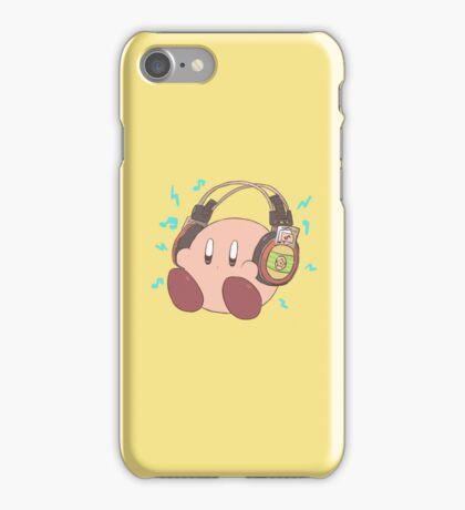 Kirby - Sound Test Headphones iPhone Case/Skin