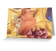 Red Onions, Still life in water colour Greeting Card