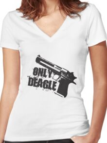Only Deagle Women's Fitted V-Neck T-Shirt