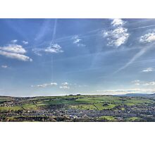 Big Blue Yorkshire Sky Photographic Print