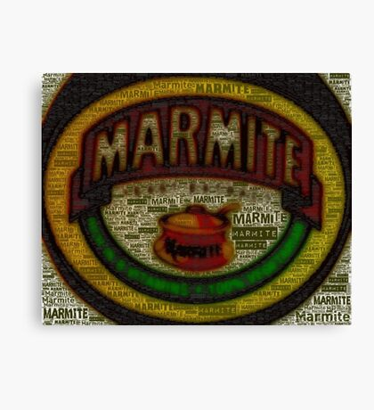 Marmite is the Word Canvas Print