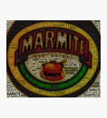 Marmite is the Word Photographic Print