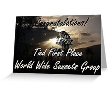 Tied First Place - World Wide Sunsets - Challenge Banner Greeting Card