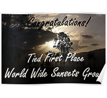 Tied First Place - World Wide Sunsets - Challenge Banner Poster