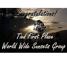 Tied First Place - World Wide Sunsets - Challenge Banner Photographic Print