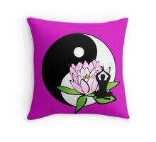 7 DAY'S OF SUMMER-YOGA ZEN RANGE-MINDFULNESS PINK Throw Pillow