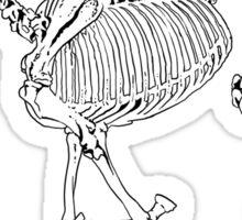 Running skeleton horse Sticker