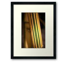 Golden Bamboo Grove Framed Print
