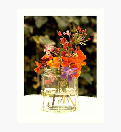 Flower jar. Art Print