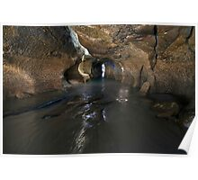 Low Tide at Caves Beach Poster