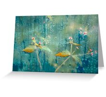 Azure Gold Beauty Greeting Card