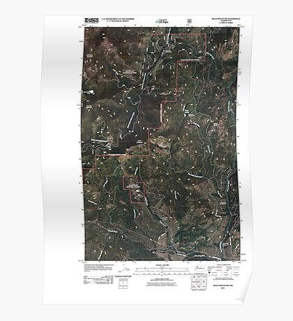 USGS Topo Map Washington State WA Buck Mountain 20110429 TM Poster