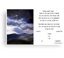 Gedig sonder naam Canvas Print