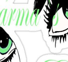 KARMAS GREEN EYED GIRL Sticker