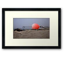 Flotsam in fog Framed Print