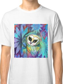Funky Forest Blue Celtic Owl Classic T-Shirt