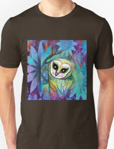 Funky Forest Blue Celtic Owl T-Shirt