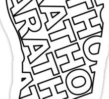 Marathon Shoe Sticker