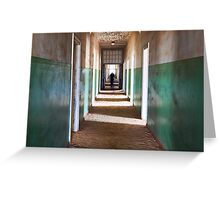 Ghostly Corridor Greeting Card
