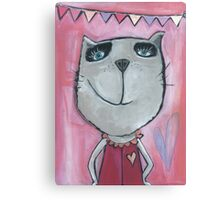 Cat Rose Canvas Print