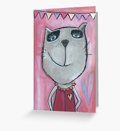 Cat Rose Greeting Card