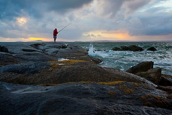 fishing before the storm by BlaizerB