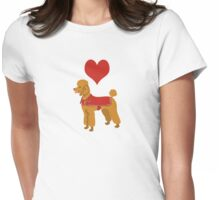 Love Love Love Poodles Womens Fitted T-Shirt