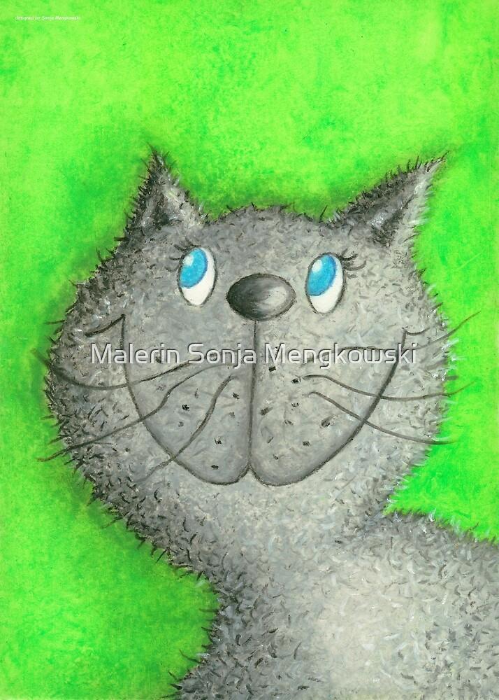 Cat Lina by Malerin Sonja Mengkowski