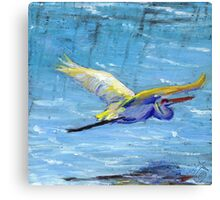 Flying Crane Canvas Print