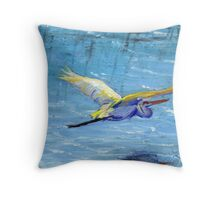 Flying Crane Throw Pillow