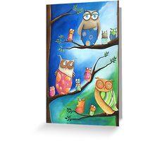 Owls School Greeting Card
