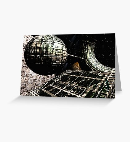 The Flight Across the Three Universes #1 - Flying Cities Greeting Card