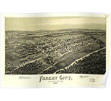 Panoramic Maps Forest City Susquehanna County Pa 1889 Poster