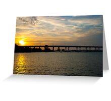 Sunset Behind Roosevelt Bridge Stuart Florida Greeting Card