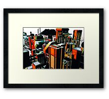 The Flight Across the Three Universes #2 - Utopia City Dawns #1 Framed Print