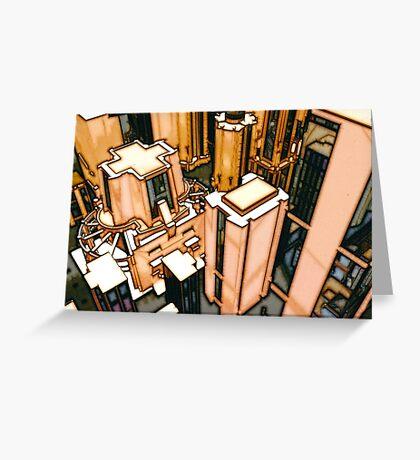 The Flight Across the Three Universes #3 - Utopia City Dawns #2 Greeting Card