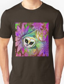 Funky Forest Pink Celtic Owl T-Shirt