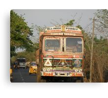 Driving In India! Canvas Print