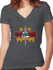 Grayskull Energy Drink Women's Fitted V-Neck T-Shirt