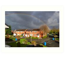 RAINBOW AND STORMCLOUDS. Art Print