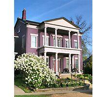 White Lilacs & Daffodils Photographic Print