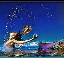 The Playful Mermaid by Richard  Gerhard